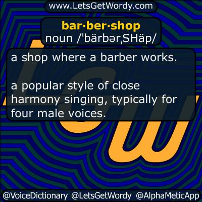 barbershop 01/06/2016 GFX Definition