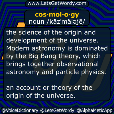 cosmology 01/09/2017 GFX Definition