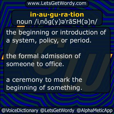 inauguration 01/12/2017 GFX Definition