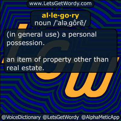 allegory 01/23/2017 GFX Definition
