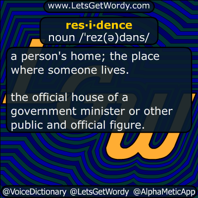 residence 03/06/2017 GFX Definition