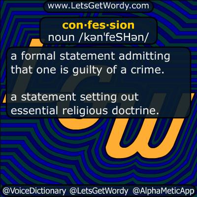 confession 03/22/2018 GFX Definition
