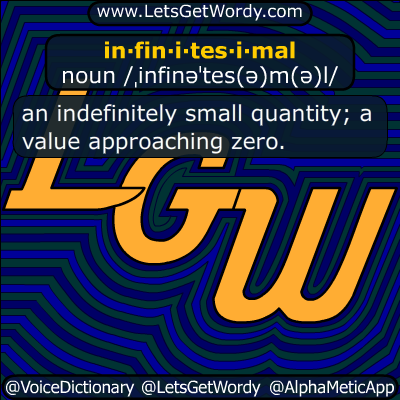 infinitesimal 04/02/2018 GFX Definition