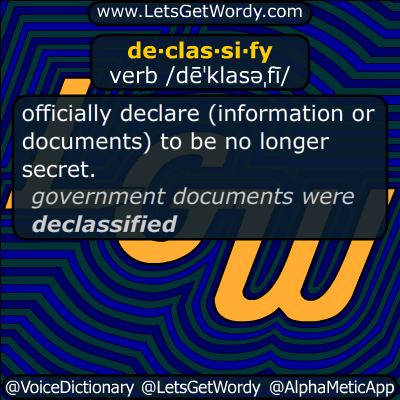 declassify 04/23/2018 GFX Definition