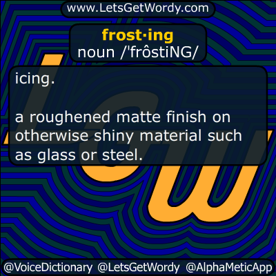 frosting 04/29/2017 GFX Definition
