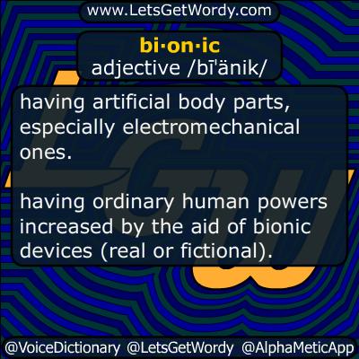 bionic 05/14/2018 GFX Definition