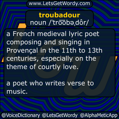troubadour 05/18/2016 GFX Definition