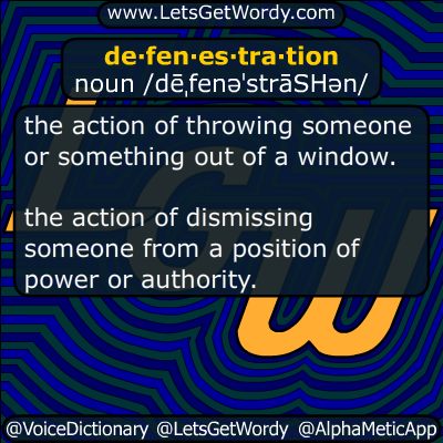 defenestration 06/12/2018 GFX Definition