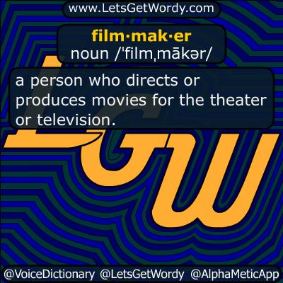 filmmaker 07/22/2018 GFX Definition