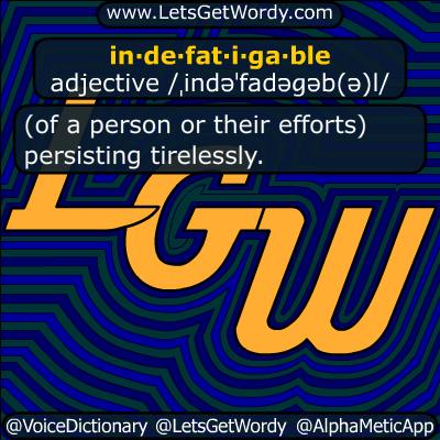 indefatigable 07/26/2018 GFX Definition