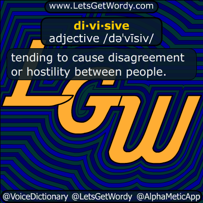divisive 08/29/29016 GFX Definition