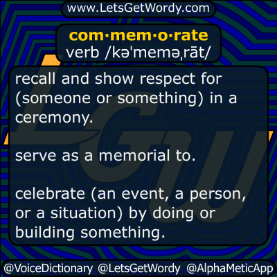 commemorate 09/11/2016 GFX Definition