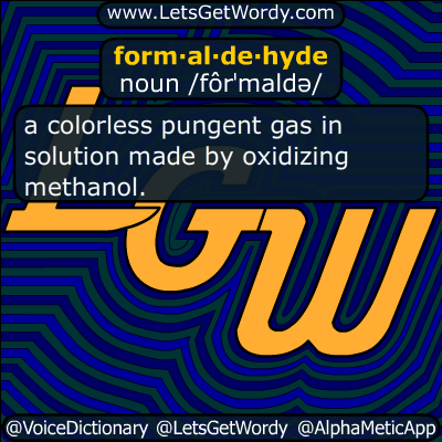 formaldehyde 10/21/2016 GFX Definition