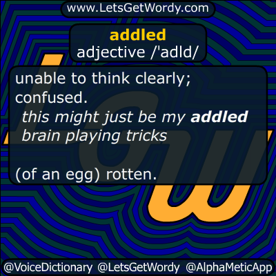addled 11/10/2015 GFX Definition