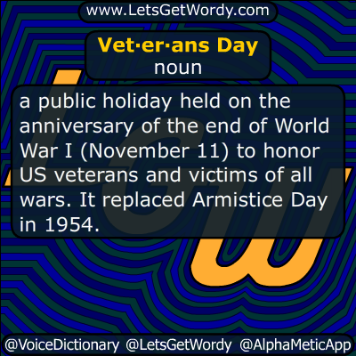 Veterans Day 11/11/2017 GFX Definition