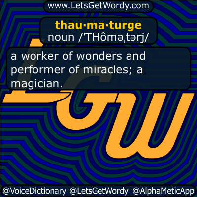 thaumaturge 11/13/2016 GFX Definition