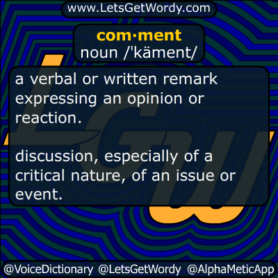 comment 11/18/2015 GFX Definition