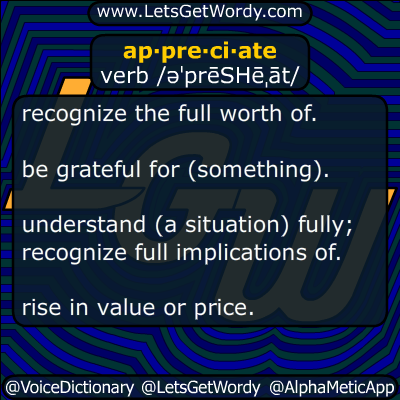 appreciate 12/03/2015 GFX Definition
