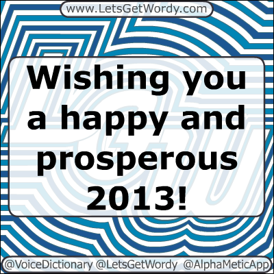 Happy 2013! 01/01/2013 GFX Definition of the Day