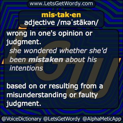 mistaken 11/12/2014 GFX Definition
