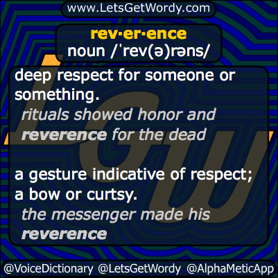 reverence 01/14/2014 GFX Definition