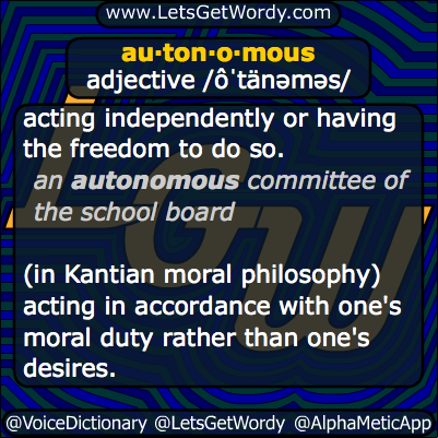 autonomous 02/12/2014 GFX Definition