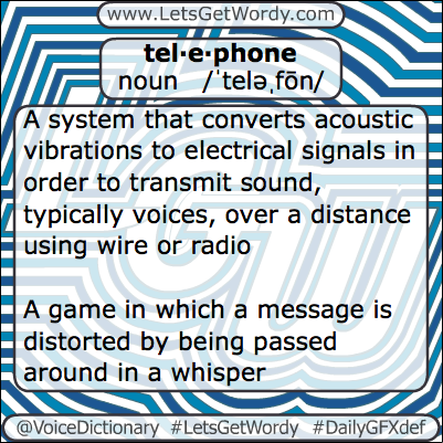 Telephone 03/07/2013 GFX Definition of the Day