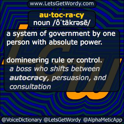 autocracy 03/08/2014 GFX Definition