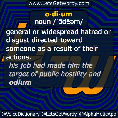odium 03/12/2014 GFX Definition