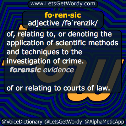 forensic 03/21/2014 GFX Definition
