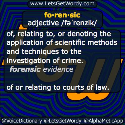 forensic 03/21/2014 GFX Definition