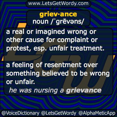 Grievance 03/22/2014 GFX Definition
