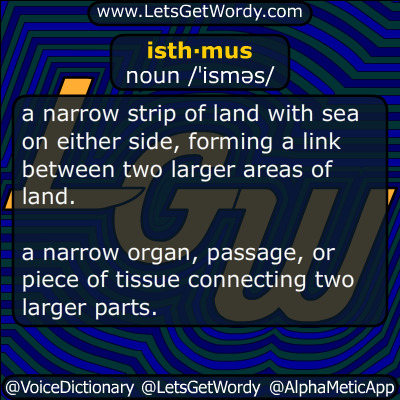 isthmus 03/29/2014 GFX Definition