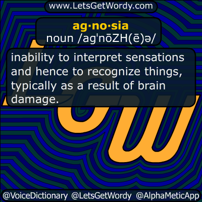agnosia 04/17/2014 GFX Definition