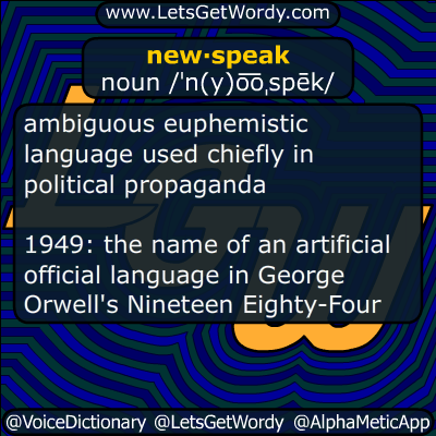 newspeak 06/06/2014 GFX Definition