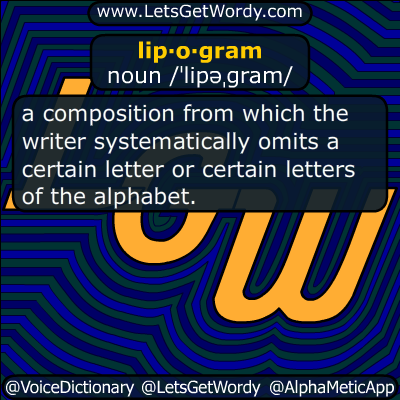 lipogram 06/21/2014 GFX Definition