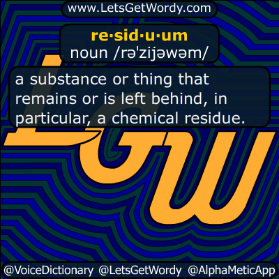 residuum 01/07/2019 GFX Definition