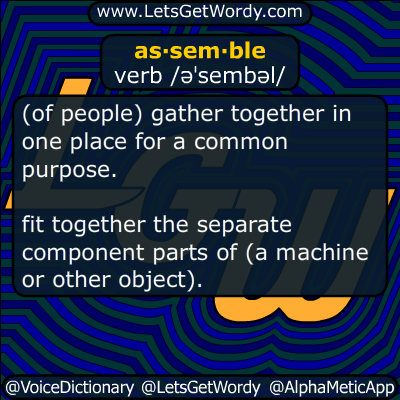 assemble 01/11/2019 GFX Definition