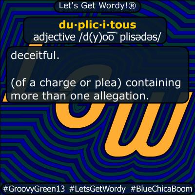 duplicitous 01/21/2020 GFX Definition