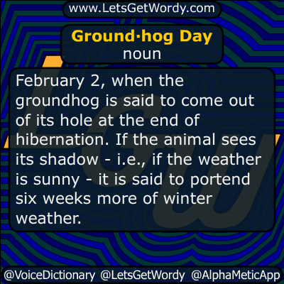 Groundhog Day 02/02/2019 GFX Definition