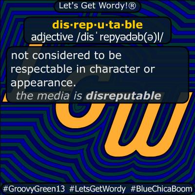 disreputable 03/01/2020 GFX Definition