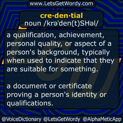 credentials 04/09/2019 GFX Definition
