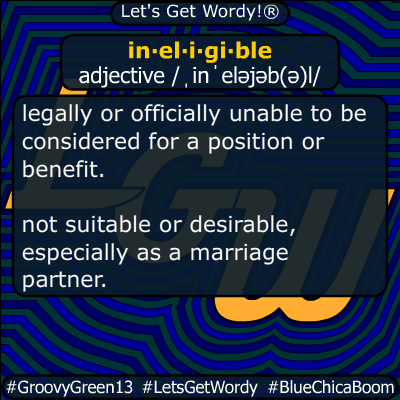 ineligible 04/11/2020 GFX Definition