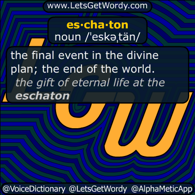 eschaton 04/30/2019 GFX Definition