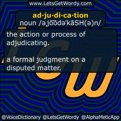 adjudication 05/04/2019 GFX Definition