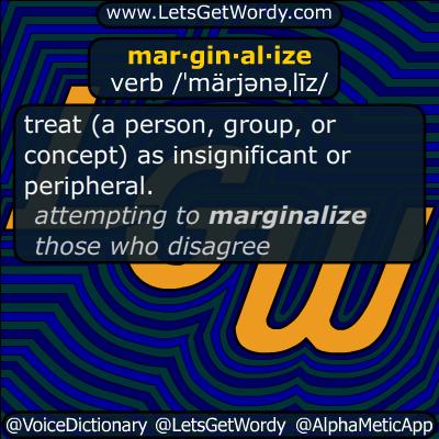 marginalize 05/09/2019 GFX Definition