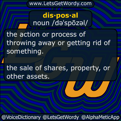 disposal 05/11/2019 GFX Definition