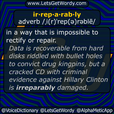 irreparably 06/14/2019 GFX Definition