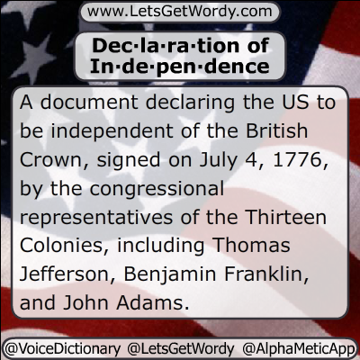 Declaration of Independence 07/04/2020 GFX Def