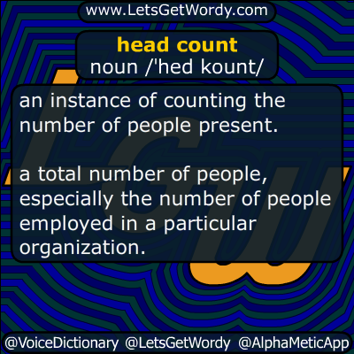 headcount 07/10/2019 GFX Definition